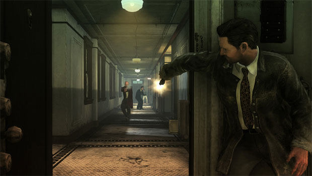 Yes! This! This is what I want to be doing! I want to take cover behind a door and fire blindly at foes!