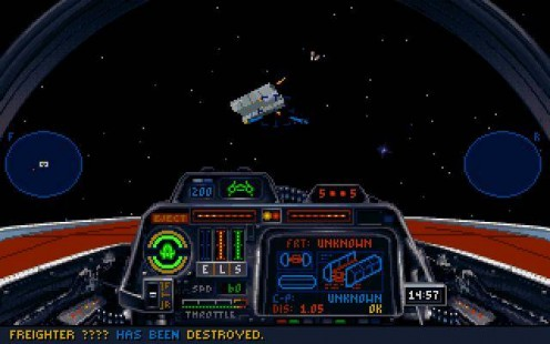 You actually can't find many screenshots of X-Wing.