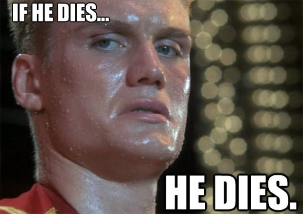 Playing the part of Randy Random will be... Ivan Drago.