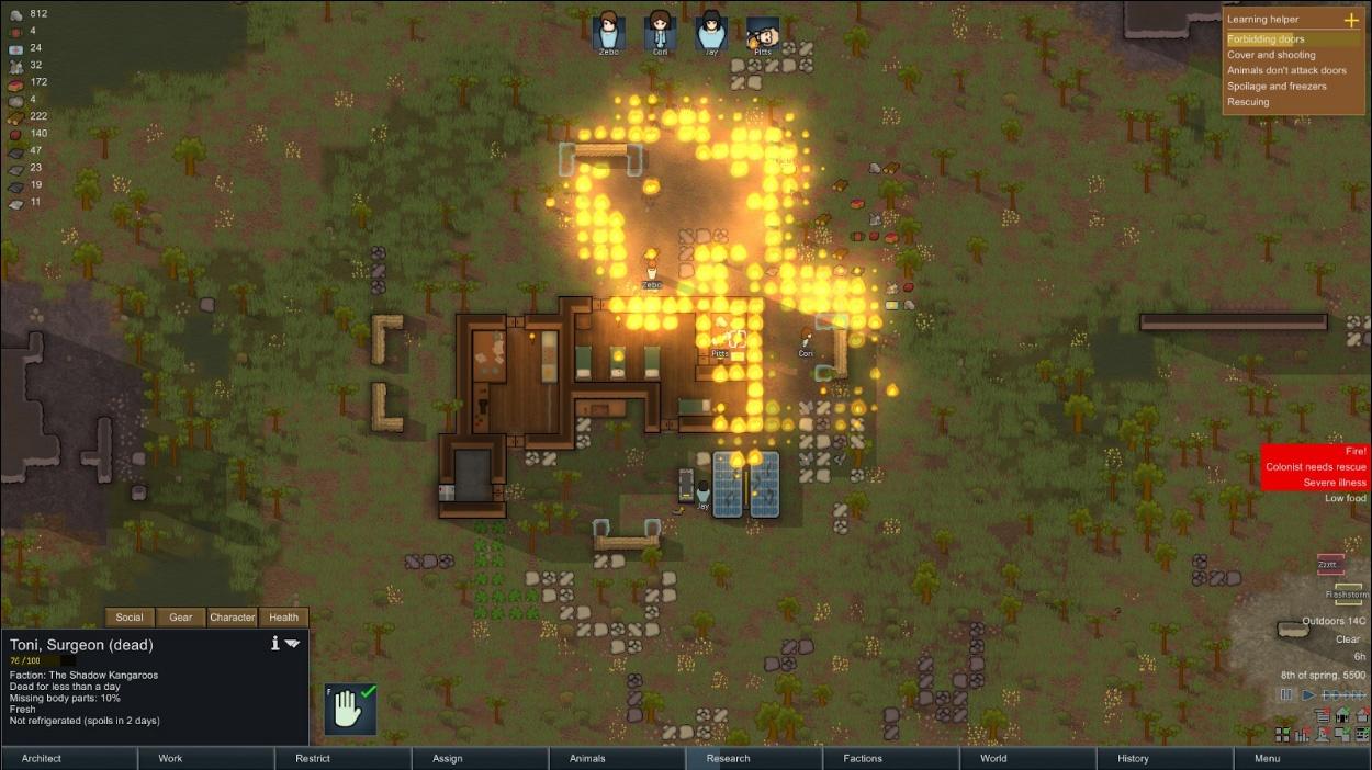 Death in Fire: A RimWorld Saga, Part 1 - Tap-Repeatedly