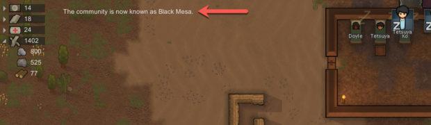 Peaceful slumber in Black Mesa, home of hope.