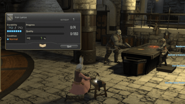 Crafting in FF14